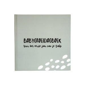 babygroeidagboek eerste jaar grijsgroen
