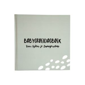 babygroeidagboek zwangerschap grijsgroen
