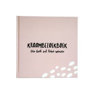kraambezoekboek roze