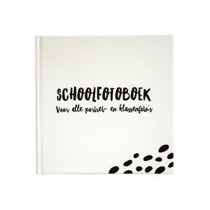 Schoolfotoboek zwart wit