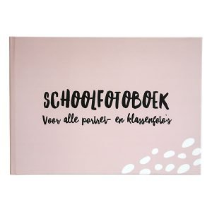 schoolfotoboek xl roze