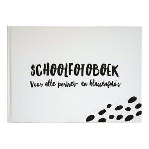 Schoolfotoboek XL zwart wit